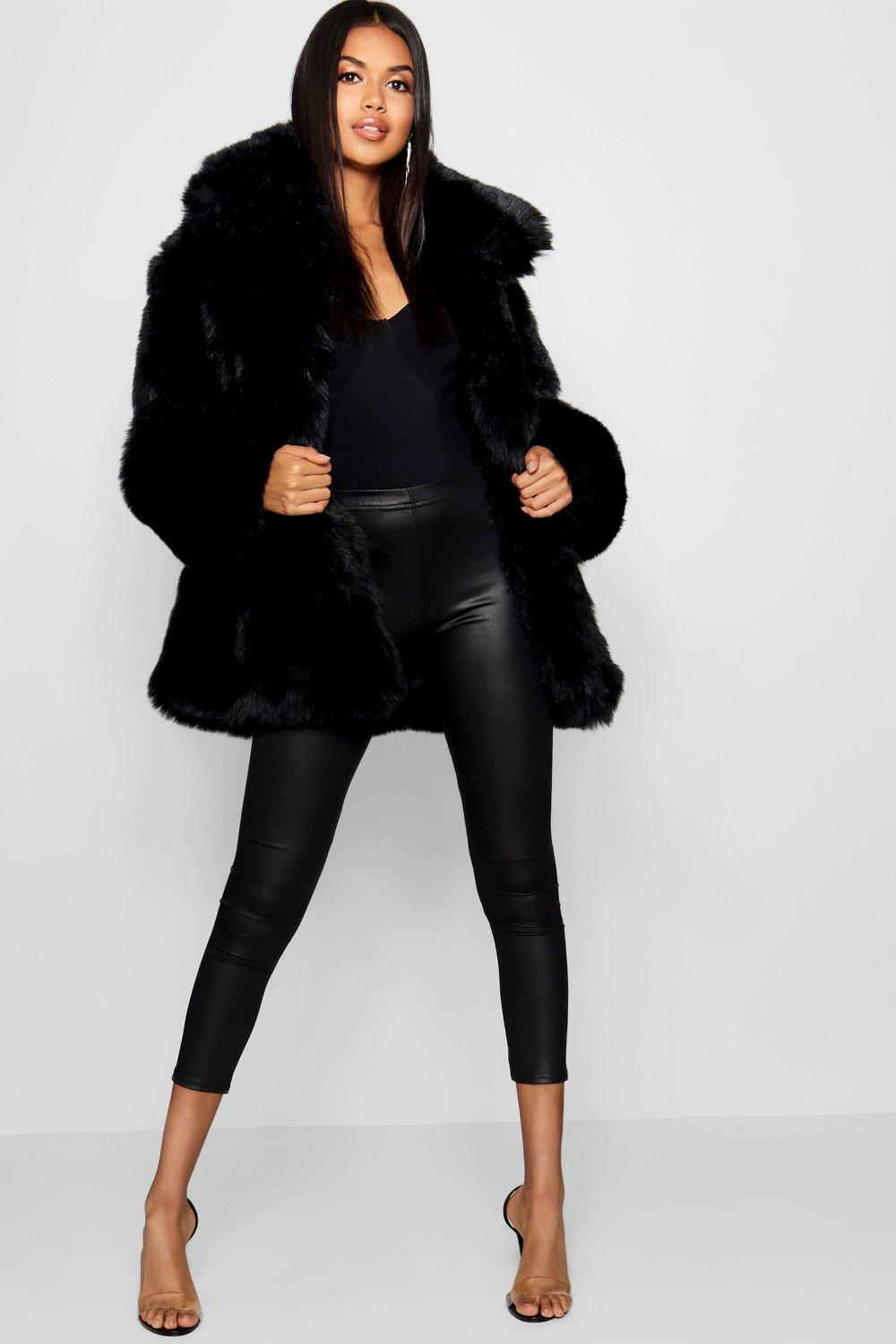 limited guantity get new amazon Collared Faux Fur Coat | Boohoo
