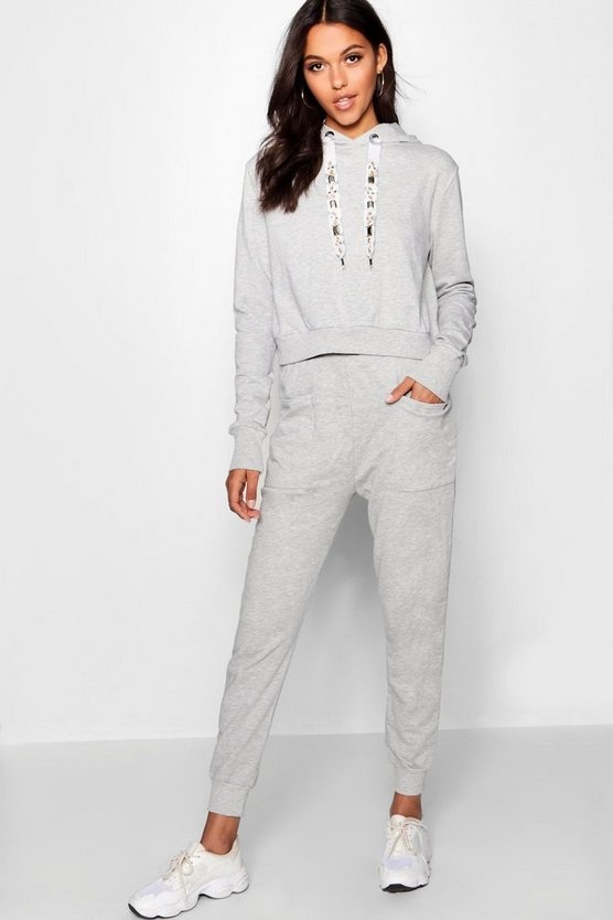 Athleisure Embellished Hooded Tracksuit