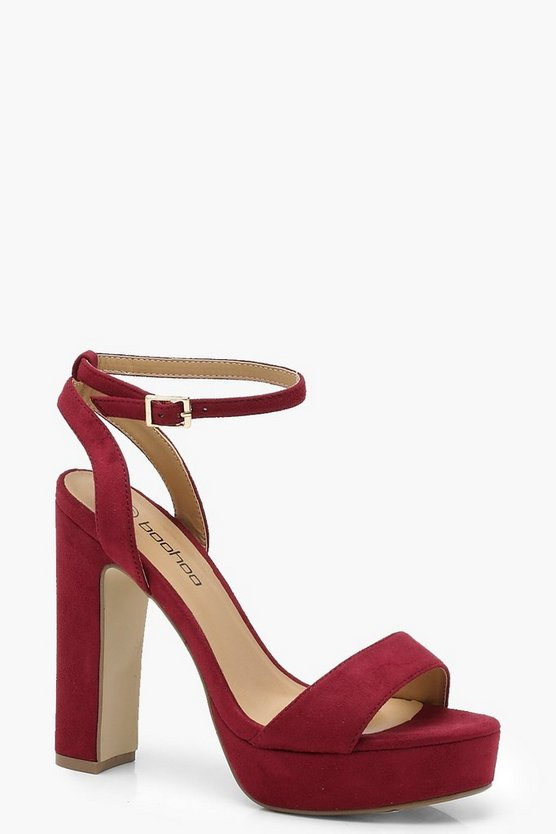Wide Fit Two Part Platform Heels