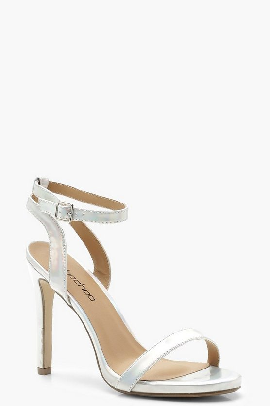 Wide Fit Iridescent Two Part Heels