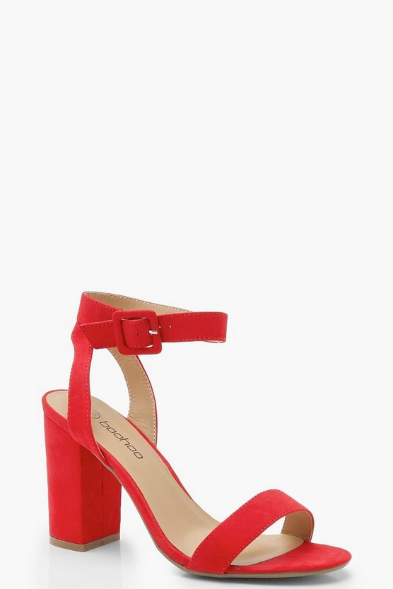 Wide Fit Two Part Block Heels