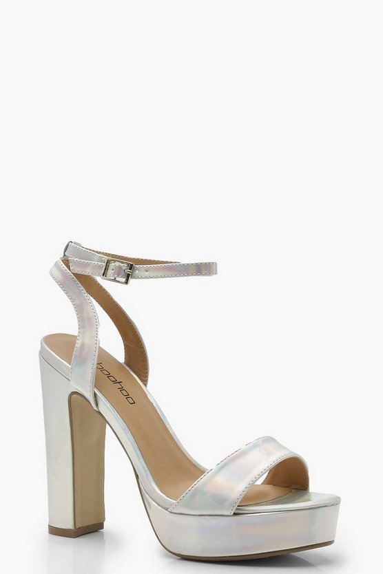 Wide Fit 2 Part Platform Heels