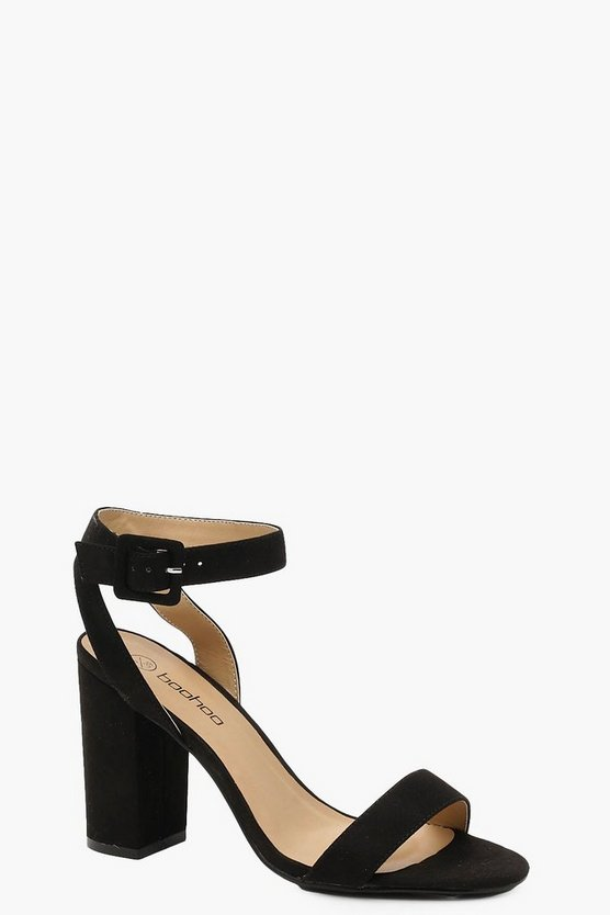 Womens Two Part Block Heels
