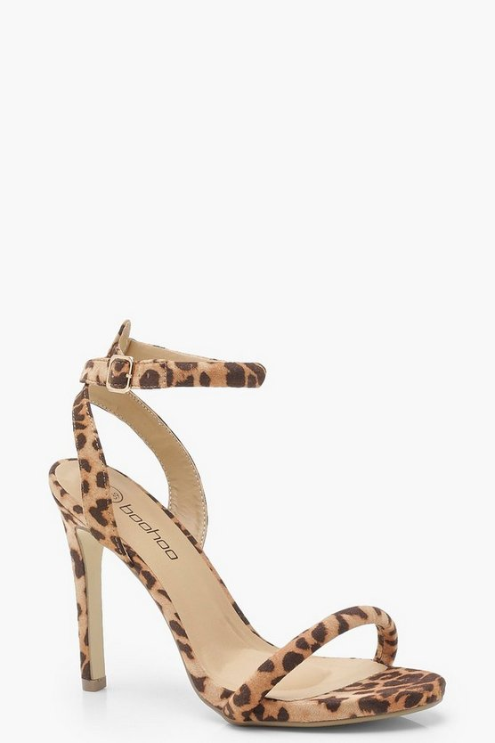 Womens Leopard Two Part Heels