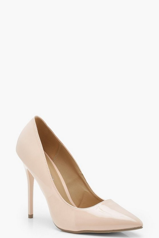 Nude Skin Tone Court Shoes