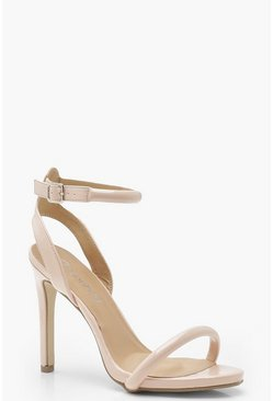 Womens Nude Skin Tone Two Part Heels