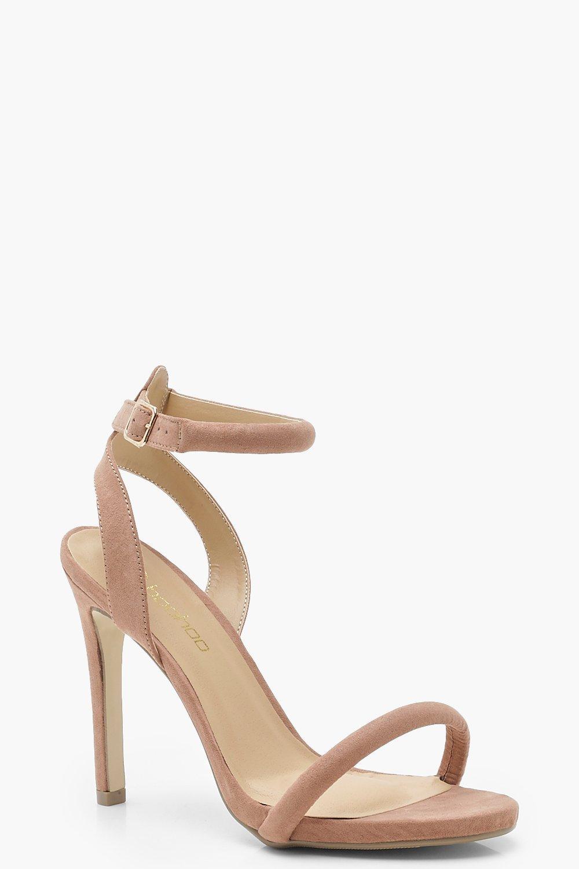 c2389b0fae2 Skin Tone Two Part Heels | Boohoo