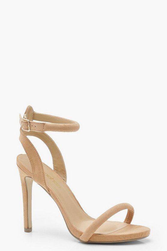 Womens Tan Skin Tone Two Part Heels