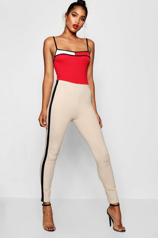 Contrast Panel Thick Ponte Treggings