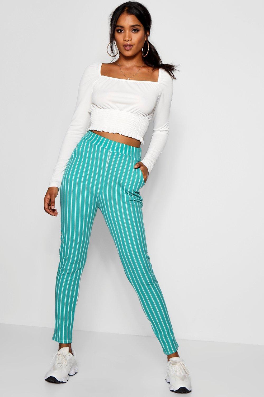 Stripe Pocket Skinny Faith green Trouser Crepe acqOwBd76