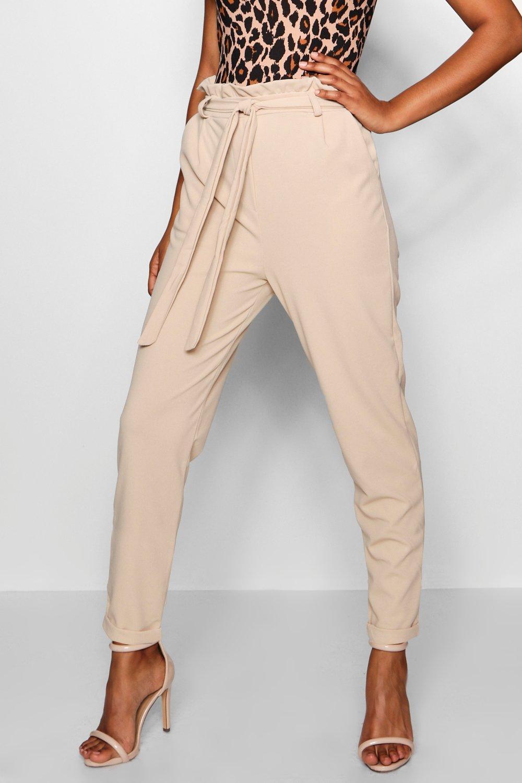 mustard Bag Paper Trouser Saskia Tapered Waist Leg O0AxOR8v