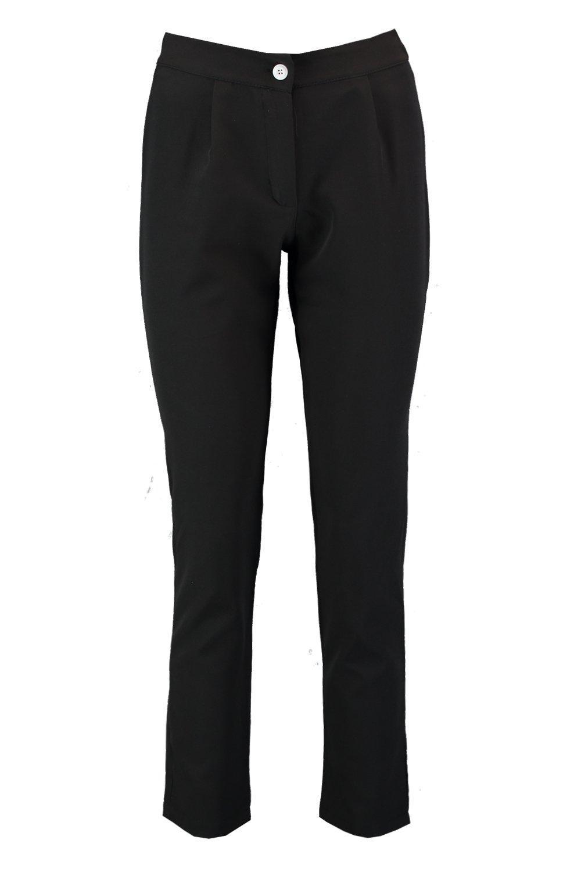 Trouser Button White black Tapered Detail qZqtz