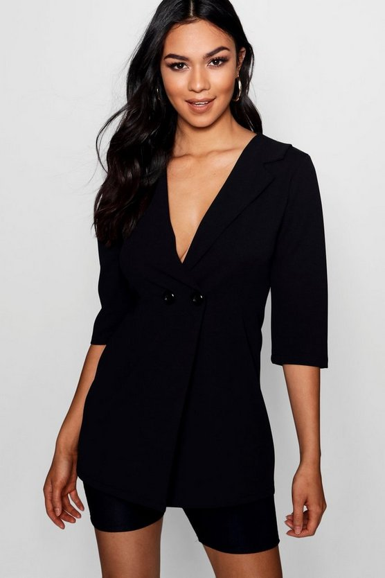 Longer Line Blazer mit Kragendetail