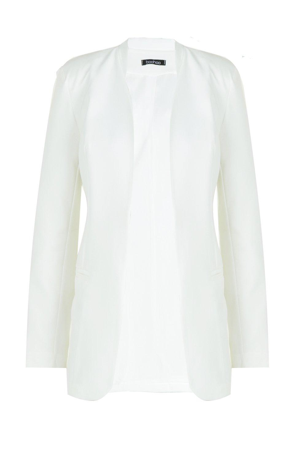 Shaped Blazer Blazer Collarless Shaped Shaped Collarless white white Blazer white Collarless 5rwxqArB