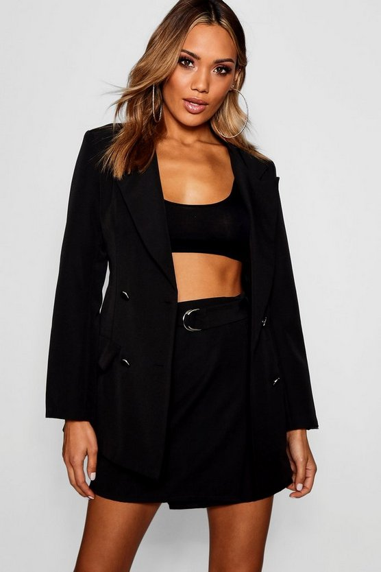 Longline Double Breasted Blazer