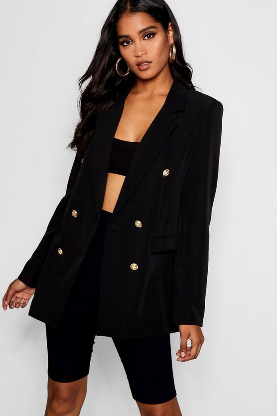 Double Breasted Boxy Blazer
