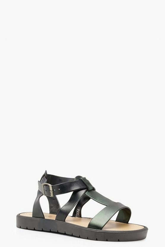 Cleated Strappy Sandals