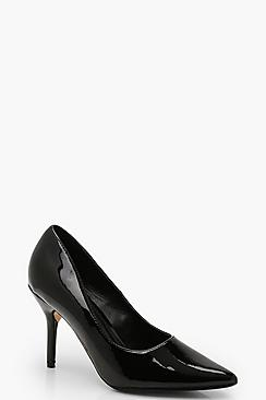 Wide Fit Pointed Stiletto Court Shoes