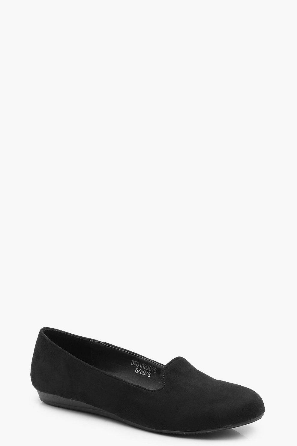 468ece18dc667 Womens Black Slipper Ballet Flats