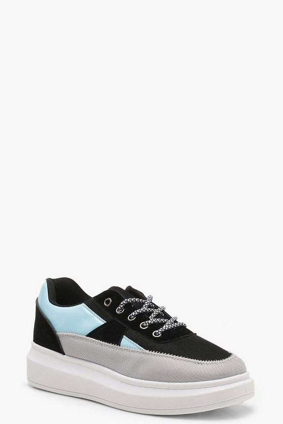 Contrast Colour Platform Trainers