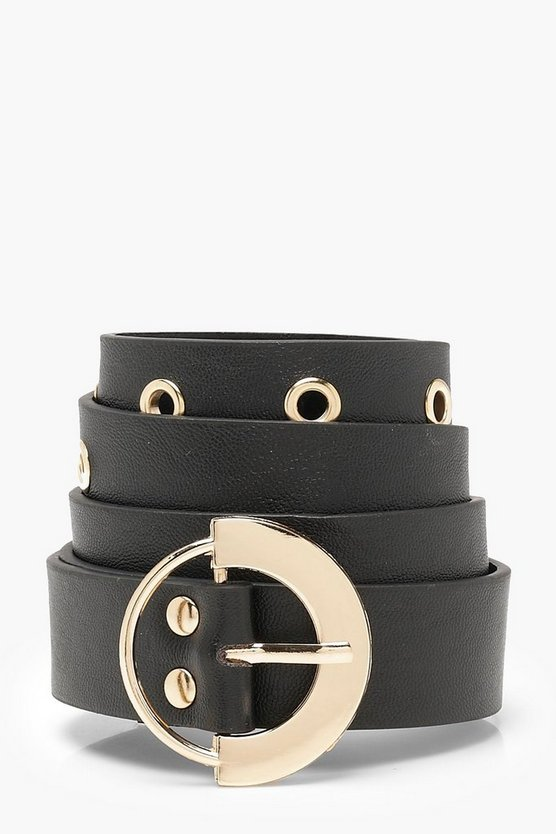 Chunky Circle Eyelet Boyfriend Belt