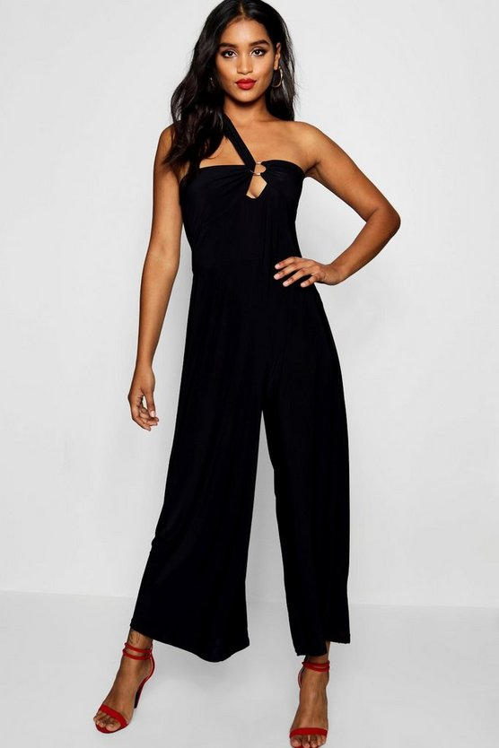 Marla Ring Detail One Shoulder Culotte Jumspuit