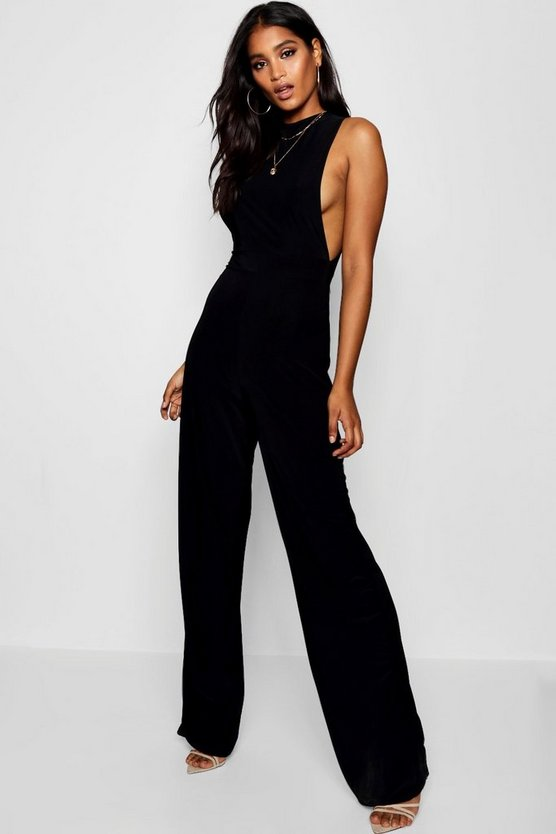 Womens Side Boob Slinky Jumpsuit