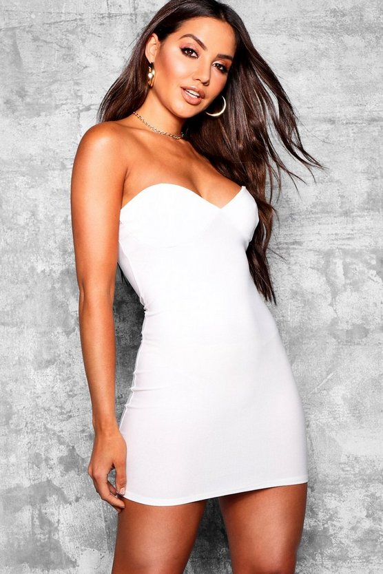 Bandeau Bustier Bodycon Dress