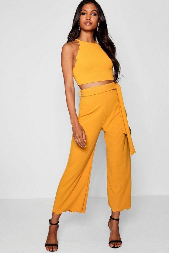Scallop Hem Top & Culotte Co-ord