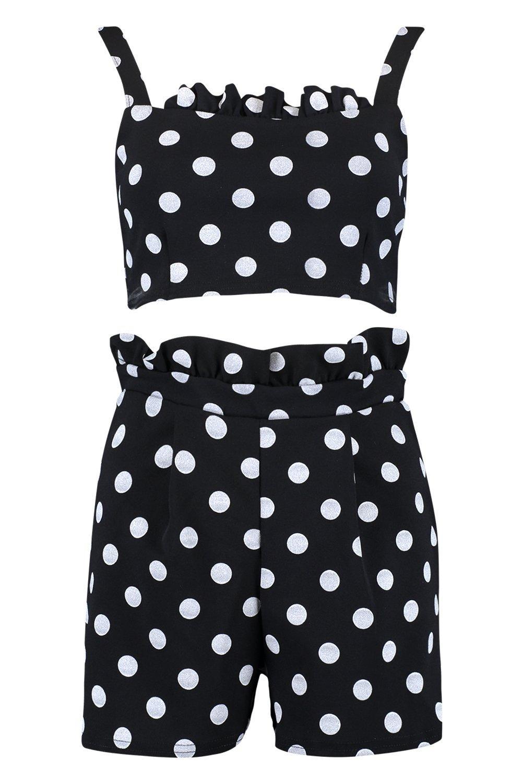 d0da9eb0e539 Boohoo Womens Polka Dot Short Co-ord | eBay