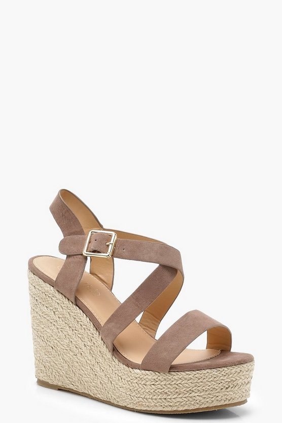 Strappy Espadrille Wedges
