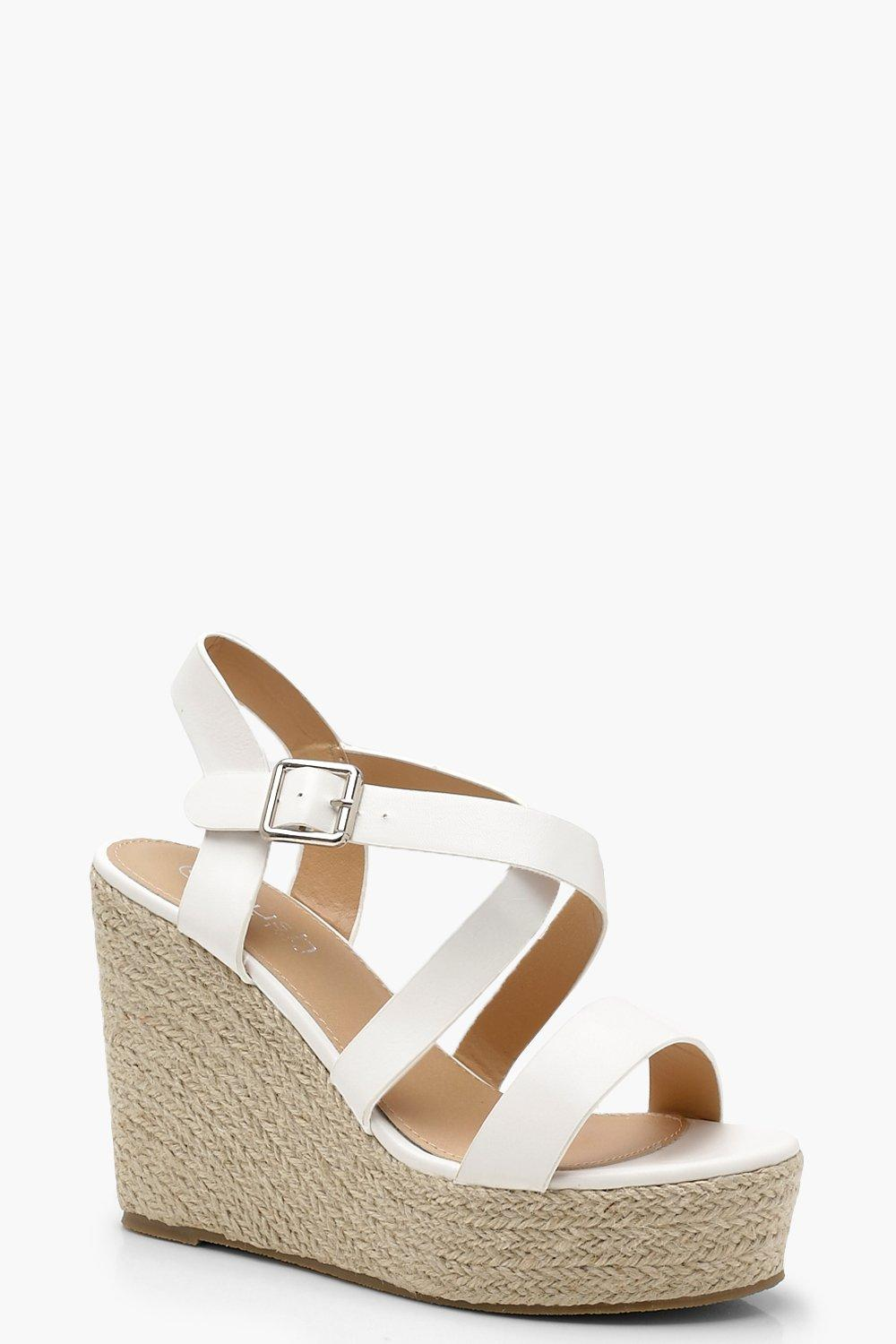 41d55752dea Strappy Espadrille Wedges | Boohoo