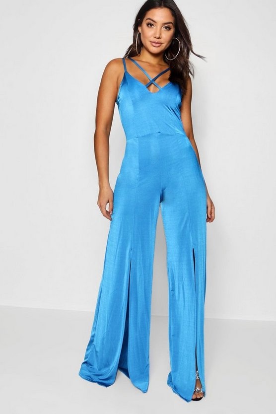 Split Front Jumpsuit
