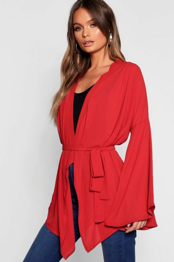 Extreme Sleeve Wrap Front Tie Top