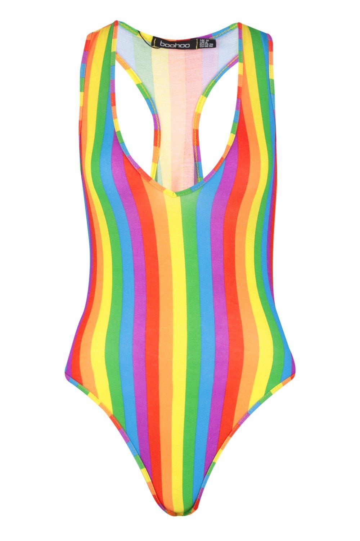 arco escote Body de multicolor pronunciado pq784wxn