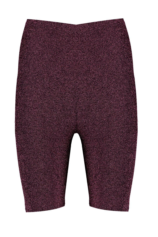 brillo de con ciclista cortos rosa Pantalones v8nIZ