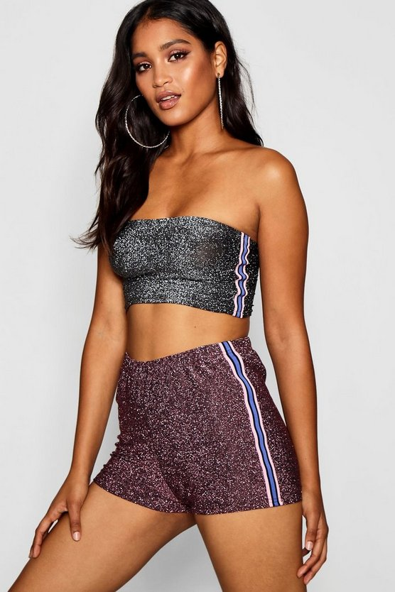 Sports Stripe Sparkle Hot Pant
