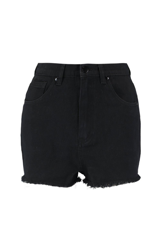 negro Pantalones denim cortos en desgastados Iqwxv1XTS