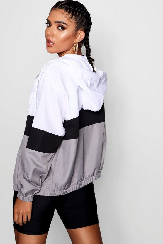 Hooded Panelled Windbreaker