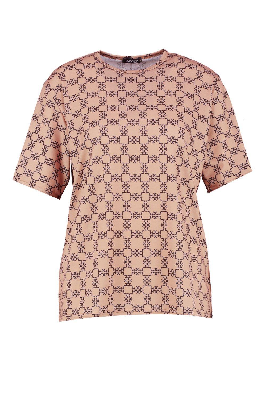 extragrande ron repetido Camiseta con estampado IqtFC