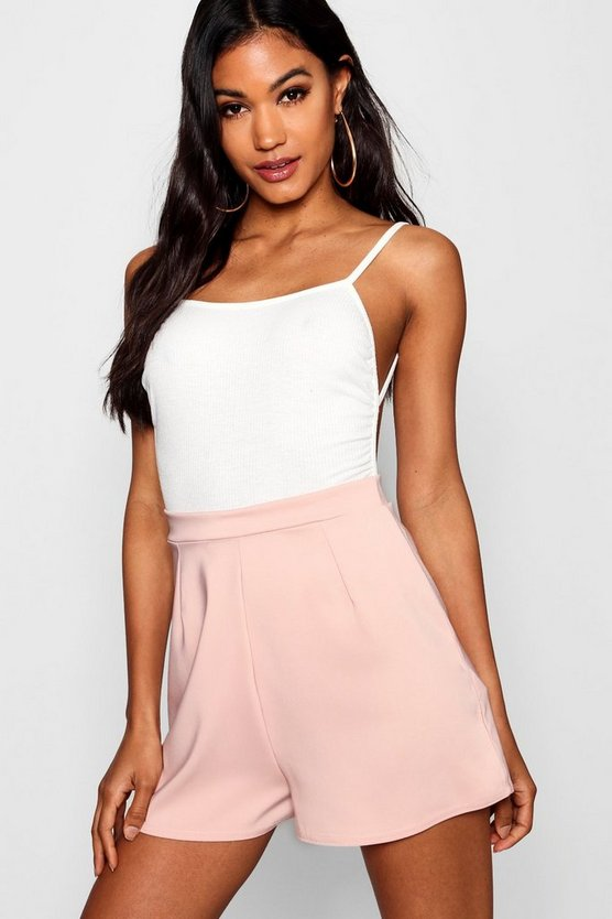 Womens Blush Maggie Crepe High Waisted Short