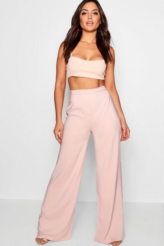 Shelby High Waisted Woven Wide Leg Trousers