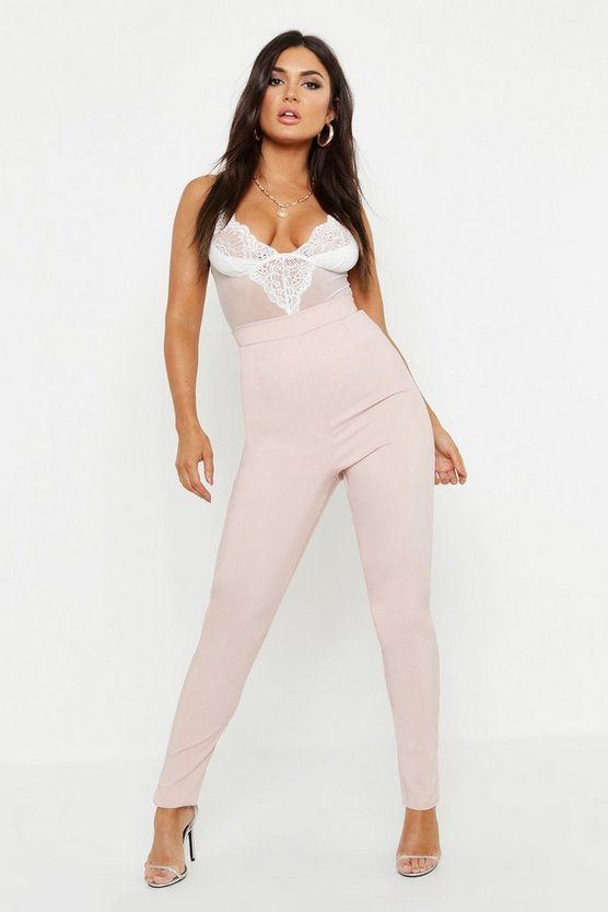 Latoya Woven High Waisted Slim Fit Trouser