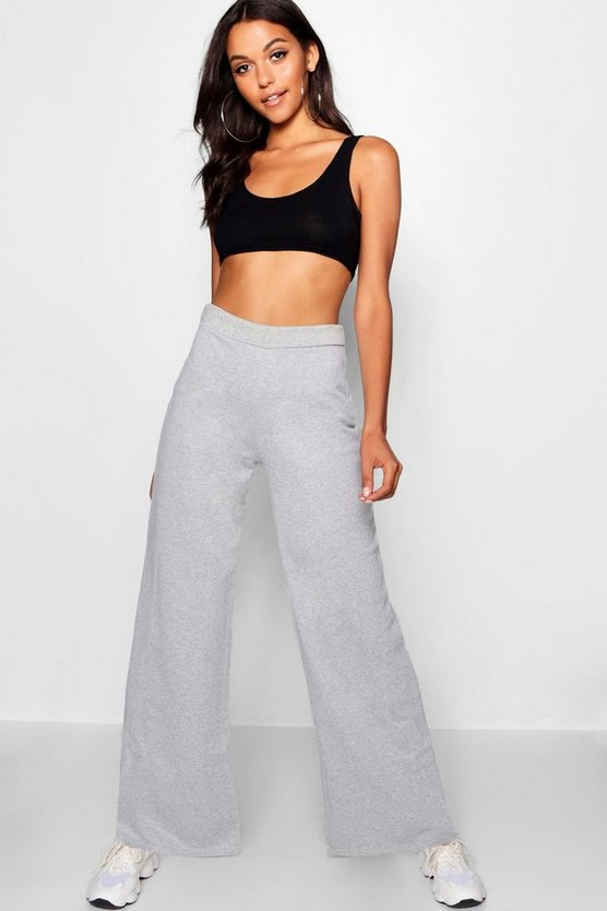 Wide Leg Sweat Trousers