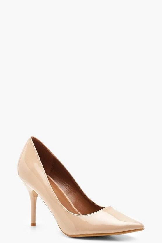 Pointed Mid Heel Court Shoes
