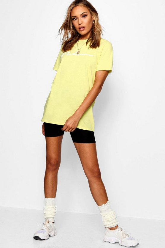 Woman Slogan Pastel T-shirt