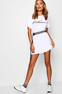 Woman Slogan T-Shirt Dress