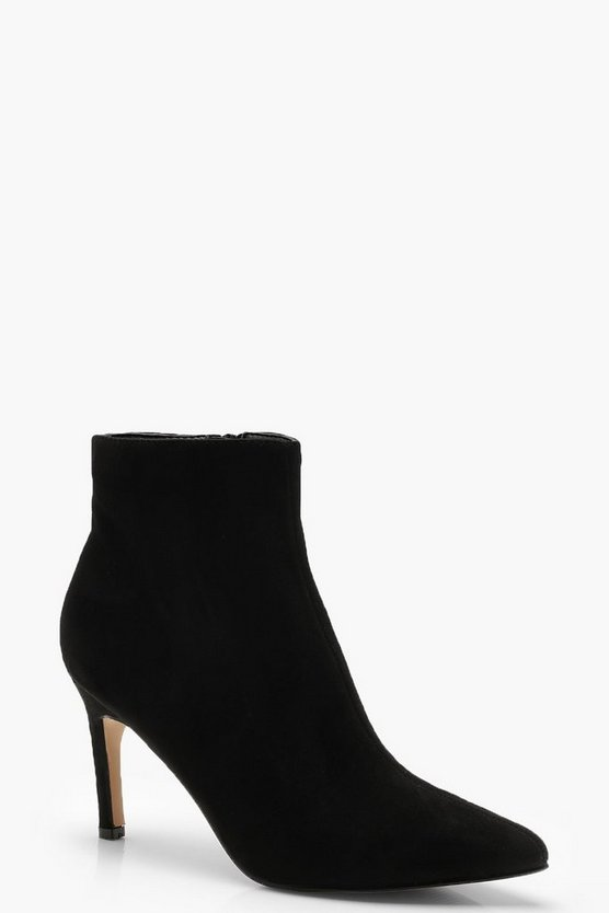 Mid Heel Pointed Toe Shoe Boots