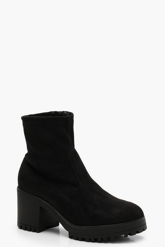 Cleated Ankle Sock Boots