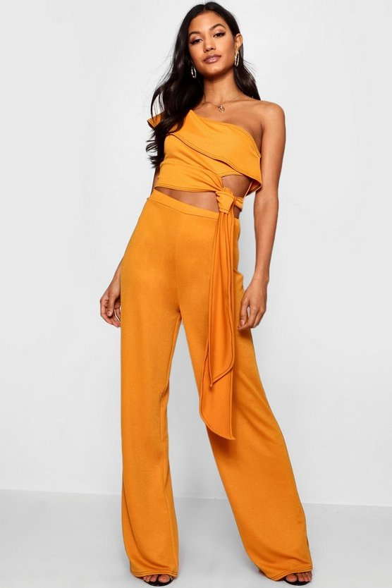 Mustard Contrast Stitch Co-Ord